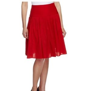 g.i.l.i regular A-Line skirt with pleats. Red